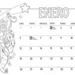 Calendarios de enero de 2016 para imprimir