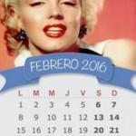 Calendarios febrero 2016 gratis