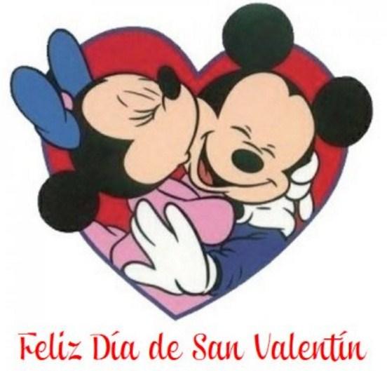 Feliz dia del amor con mickey y mini