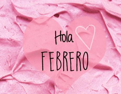 Hola febraro en color rosa