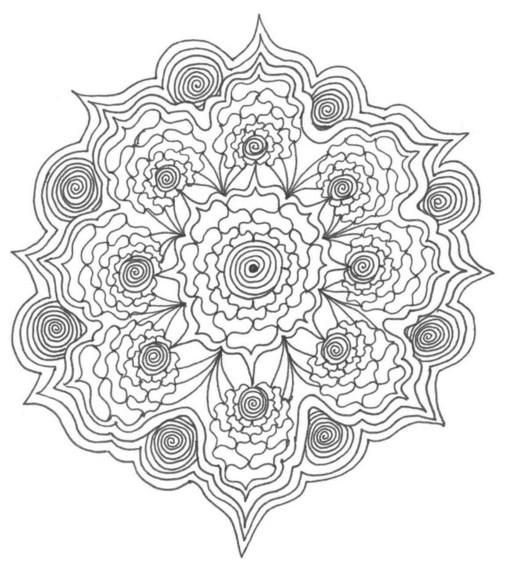 Mandalas en blanco y negro