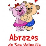 Postales con abrazos para San Valentin