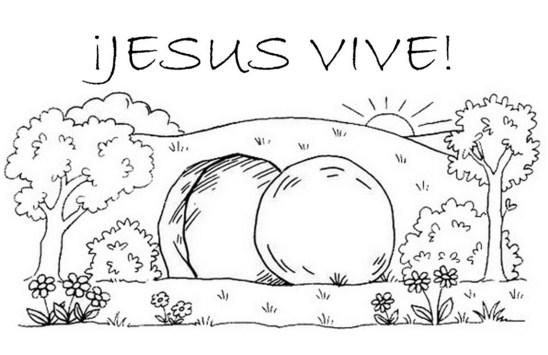 Dibujos de pascua cristianos para colorear