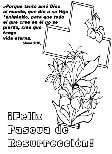 Dibujos de pascua para colorear con frases