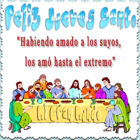 feliz jueves santo imagenes
