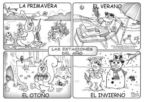 imagenes de las 4 estaciones del año para niños