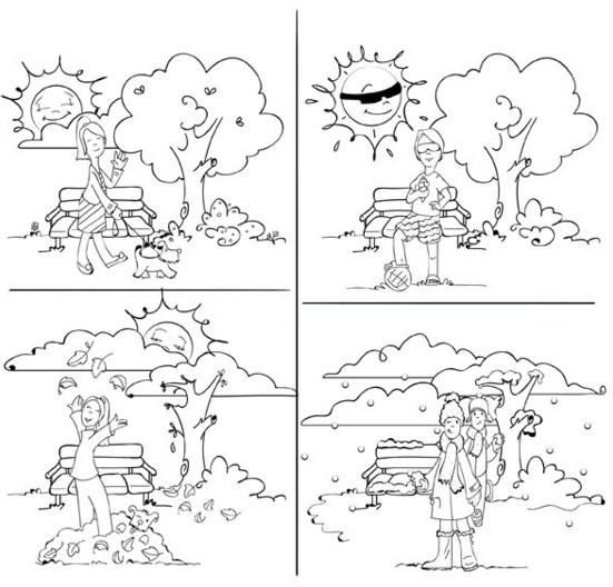 imagenes de las estaciones del año para dibujar