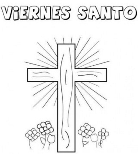 imagenes de viernes santo para colorear