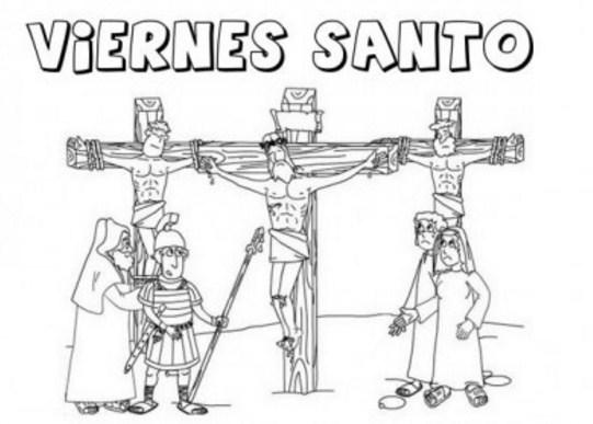 imagenes de viernes santo para imprimir y colorear
