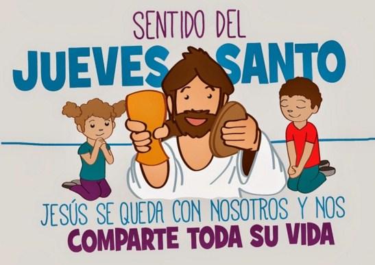 imagenes jueves santo para niños
