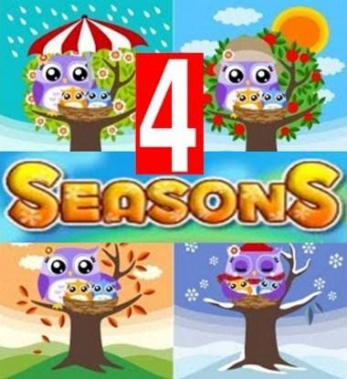 las 4 estaciones del año en ingles