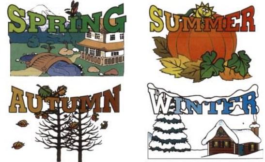 las cuatro estaciones del año en ingles