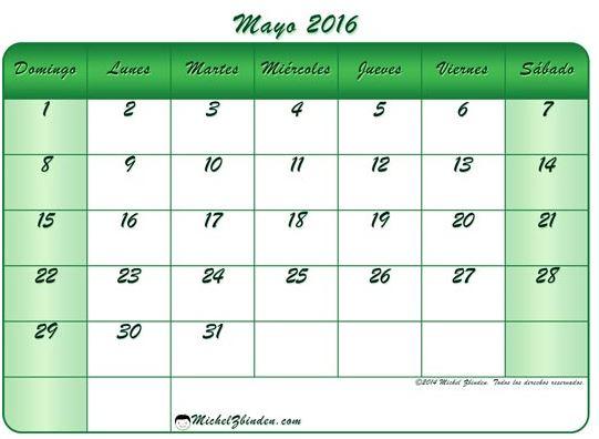 imagenes de calendarios de mayo 2016