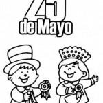 Imagenes 25 de mayo para colorear