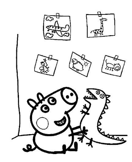 Colorear a los personajes de peppa pig