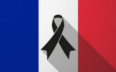 Descargar bandera de Francia con lazo de luto