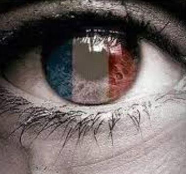 Descargar bandera de Francia de luto