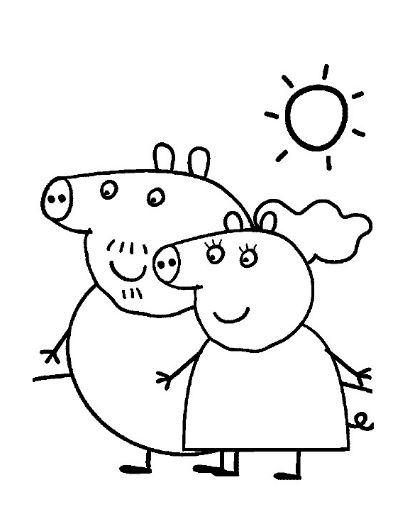 Papás de Peppa Pig para pintar