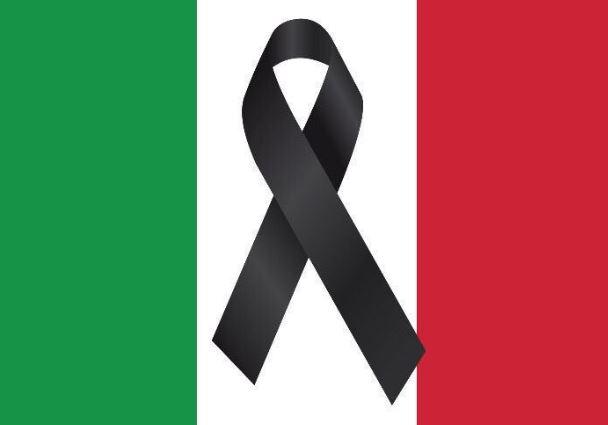 Bandera de Italia de Luto