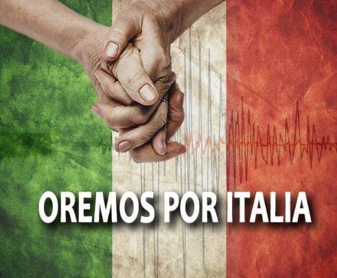 Imagenes de apoyo a Italia por el terremoto