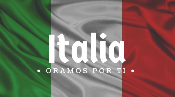 Imagenes de apoyo a Italia