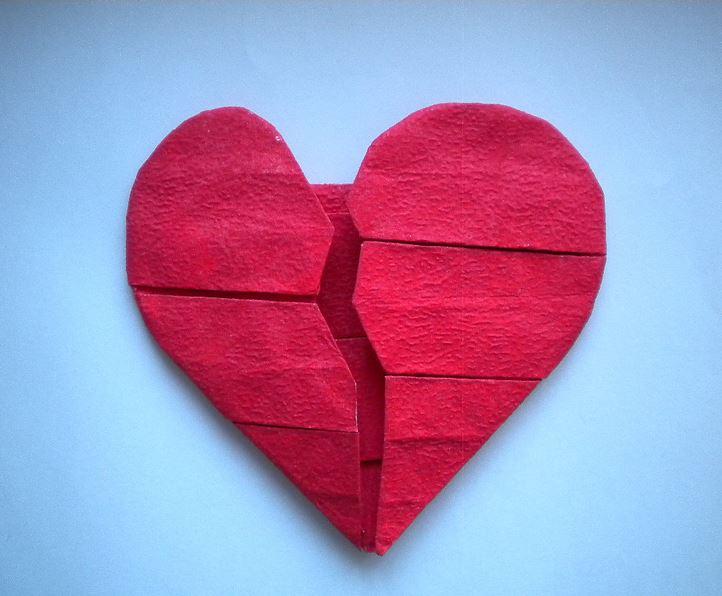 figuras de corazones rotos