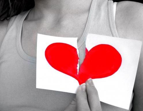 fotos de corazones rotos por amor
