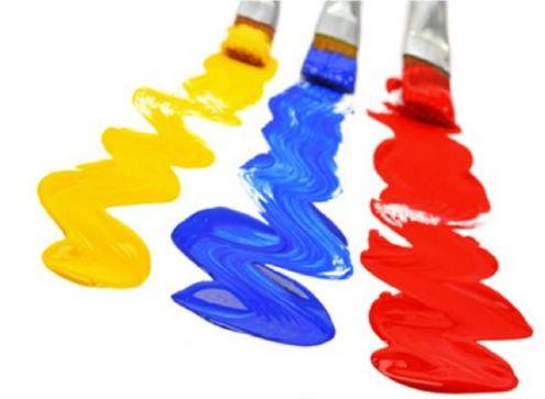 imágenes pintadas con los colores primarios