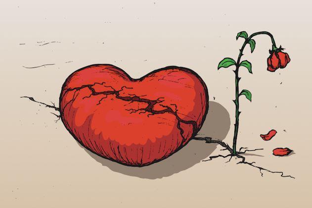 imagenes de corazones tristes