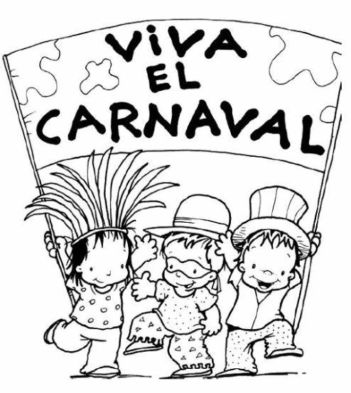 imagenes de carnaval para pintar