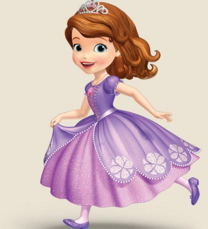 princesita sofia con vestido lila