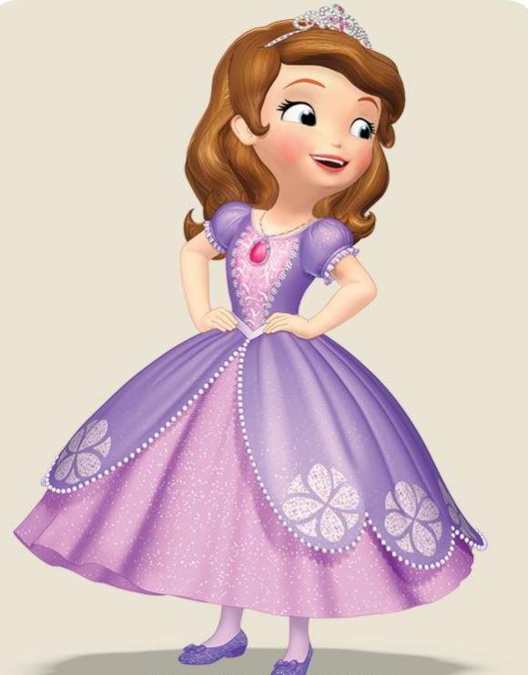 princesita sofia con vestido violeta