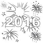 Dibujos para colorear año nuevo 2016