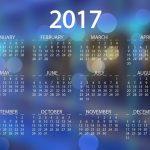 Calendarios 2017 para imprimir