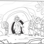 Imagenes de pascua de resurreccion para colorear